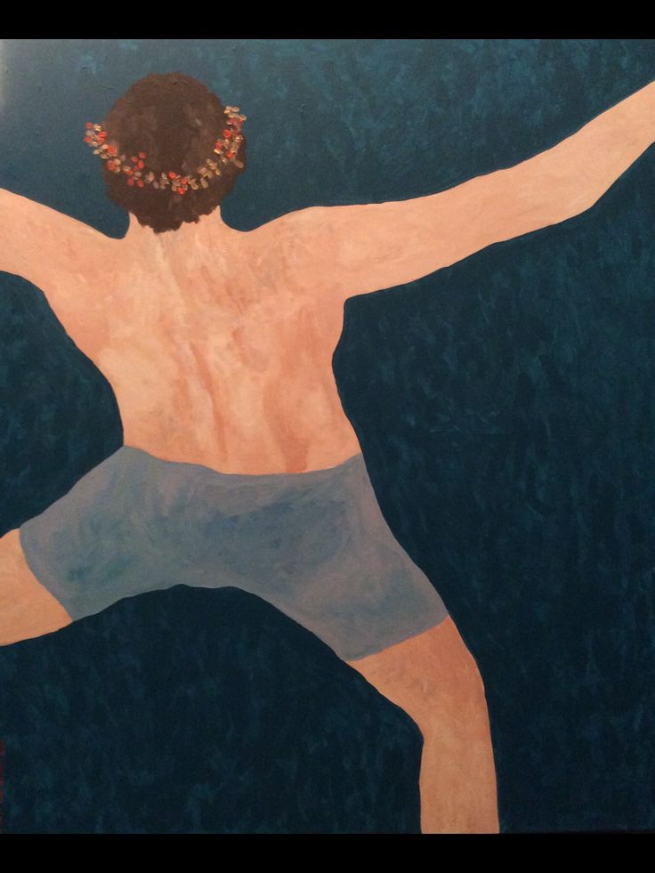 Icarus, acrylic on canvas, (120x100cm)