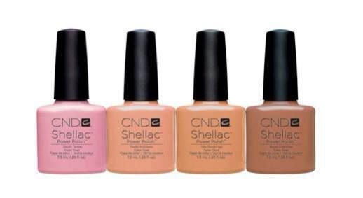 "Fall 2013: CND Shellac new Intimate Collection.  Colors: Blush Teddy, Nude Knickers, Bare Chemise and Satin Pyjamas  This collection uses subtle ""nude"" tones, perfect for natural sheer effects and personalized base colors for French Manicures and Pedicures."