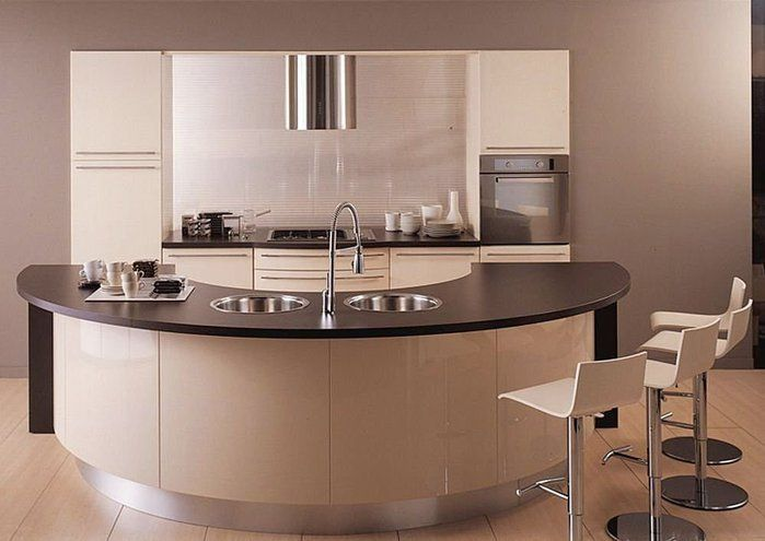 24 best images about curved kitchens on pinterest for Curved kitchen island designs
