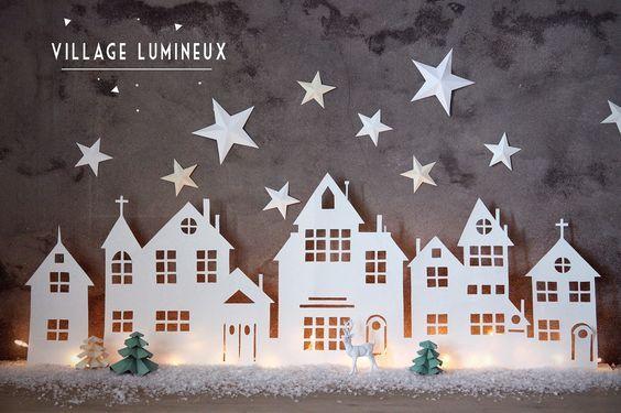 Chaque maison doit avoir un petit village de Noël décoratif pendant l'hiver… Voici, 8 villages de Noël simples et basiques ! - DIY Idees Creatives