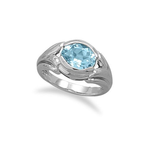 Blue Topaz - Loved By Many. CR05067 - Oxidized Sterling Silver and Oval Blue Topaz Ring #lionnedesigns #bluetopaz #rings