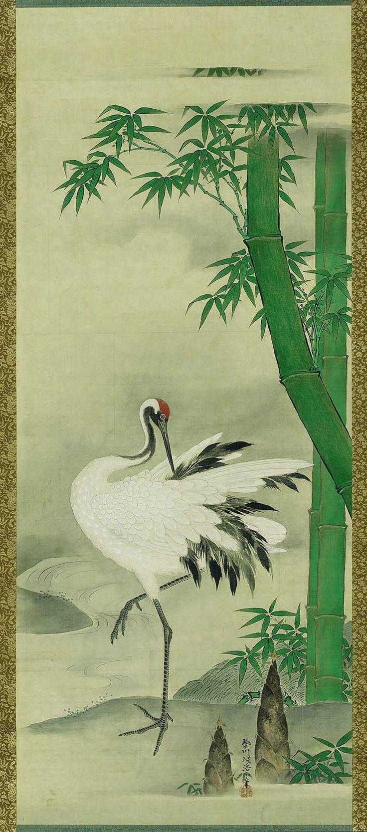 Crane | Kano Yôsen'in Korenobu, Japanese, 1753–1808