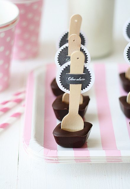 Hot chocolate spoons.