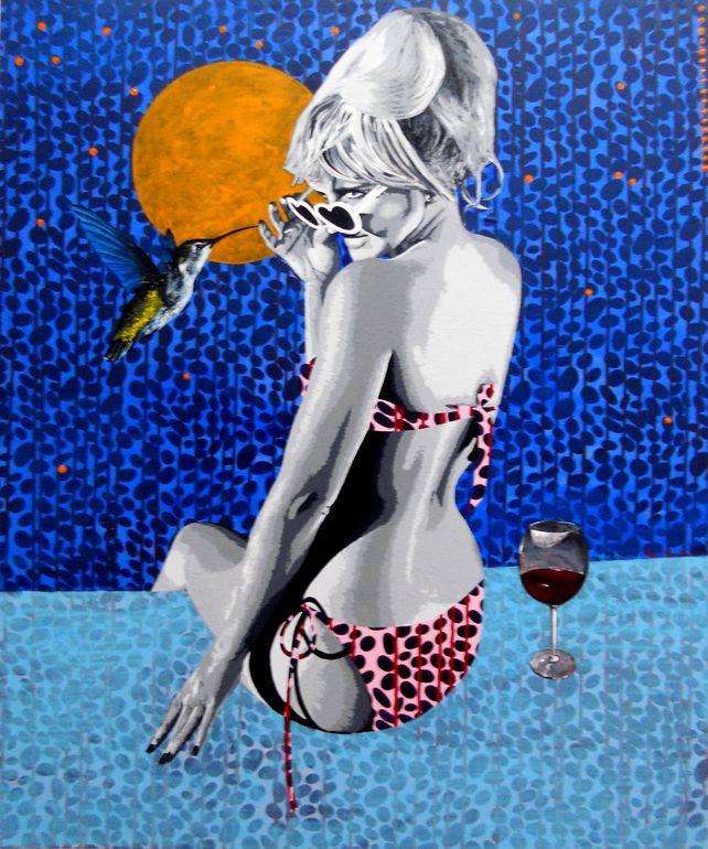 "Saatchi Online Artist: raquel gralheiro; Acrylic 2013 Painting ""De mão bei«jada (easily kissed)"""