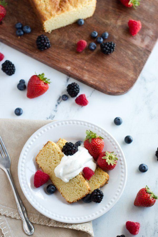 Almond Sour Cream Keto Pound Cake Recipe Sour Cream Pound Cake Low Carb Cake Food