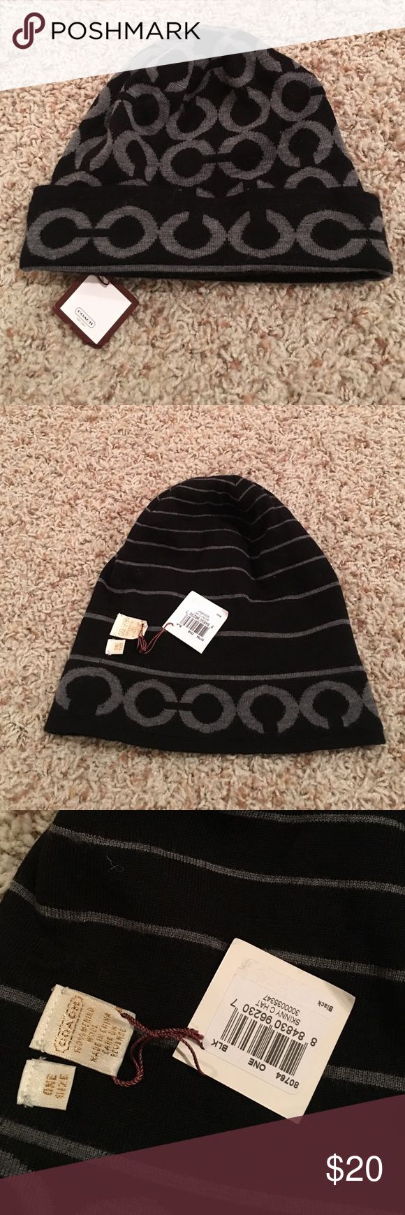 Coach beanie hat reversible This is a reversible Coach hat. New with tags. Smoke/pet free home. Coach Accessories Hats