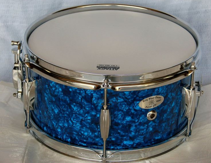 """12""""X6"""" Blue Pearl Snare Drum"""