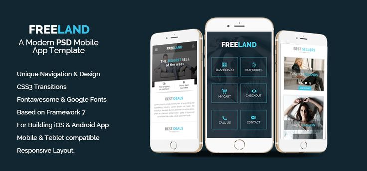 16 best Mobile Template images on Pinterest Mobile web, Mobile app