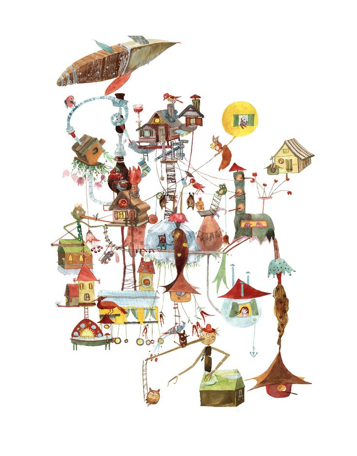 Colorhood - Birds Town by Cristiana Radu