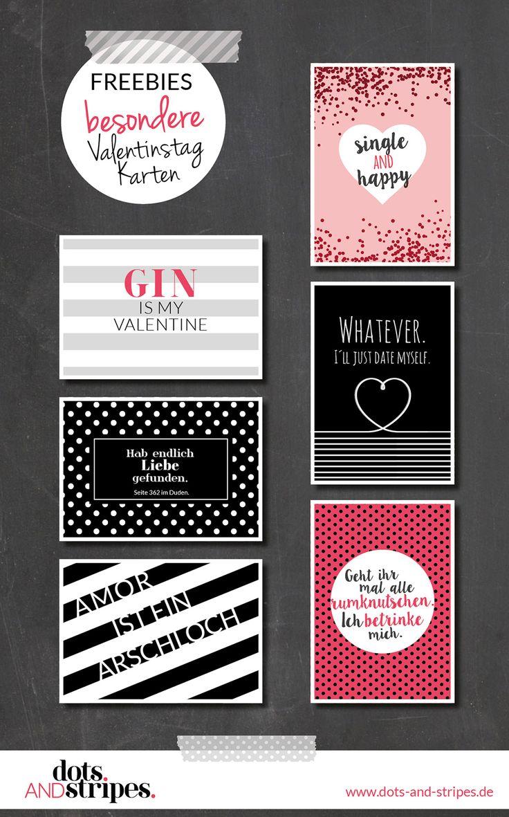 Freebies Valentinstag Karten zum  Downloaden & Ausdrucken!