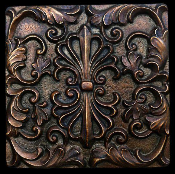 Bronze finsih Decorative Backsplash Tile