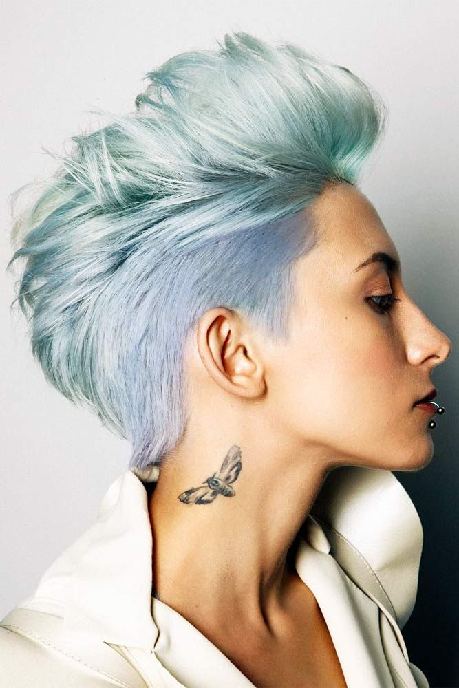 24 Cool And Daring Faux Hawk Hairstyles For Women Front Lace Wigs Human Hair Faux Hawk Hairstyles Thick Hair Styles