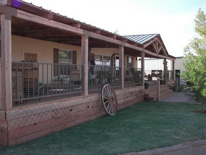 Great country idea for my double wide home on the range for Single wide floor plans with porch