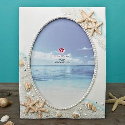 Baby Picture Frames 117392: Glorious Hand Painted Beach 8 X 10 Frame From Gifts By Partyfairybox Fc-12846 -> BUY IT NOW ONLY: $57.41 on eBay!