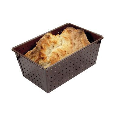 """Paderno World Cuisine Non-Stick Perforated Loaf Pan Size: 2.75"""" H x 4"""" W x 6.25"""" D"""