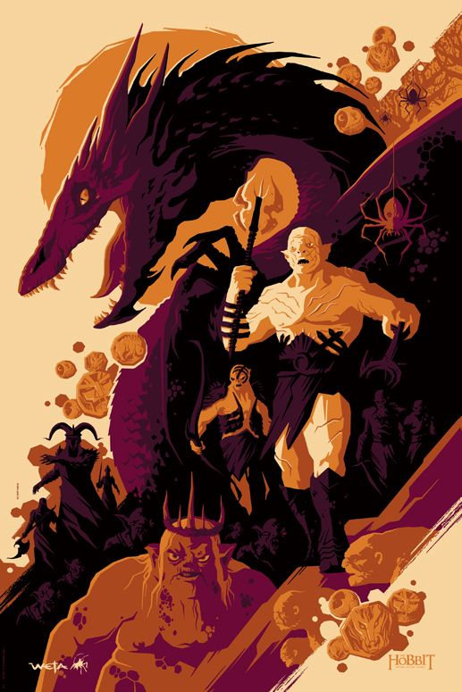 Tom Whalen – The Hobbit | Geek Art – Art, Design, Illustration ...