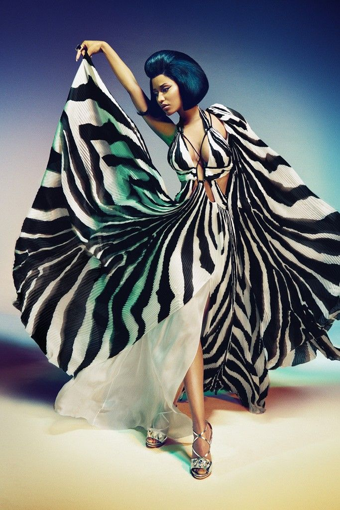 Nicki Minaj for Roberto Cavalli. [Photo by Francesco Carrozzini]