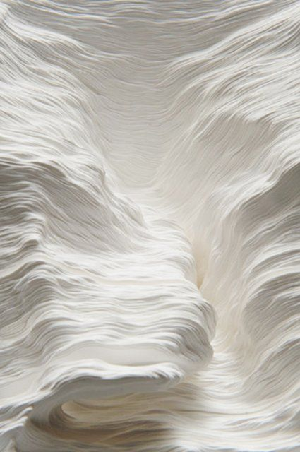 Milk paper sculpture texture