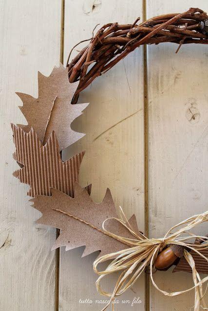 Foglie di carta per una ghirlanda autunnale - Tutto nasce da un filo