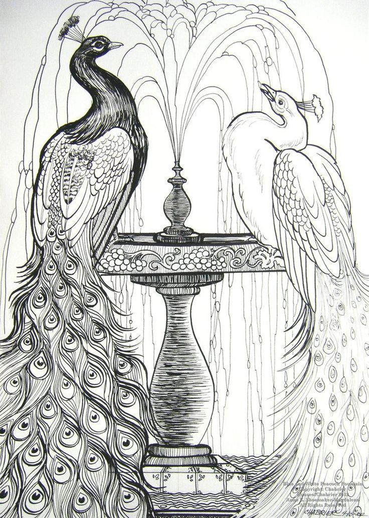 110 best Peacocks Art Coloring images on Pinterest Peacocks Art