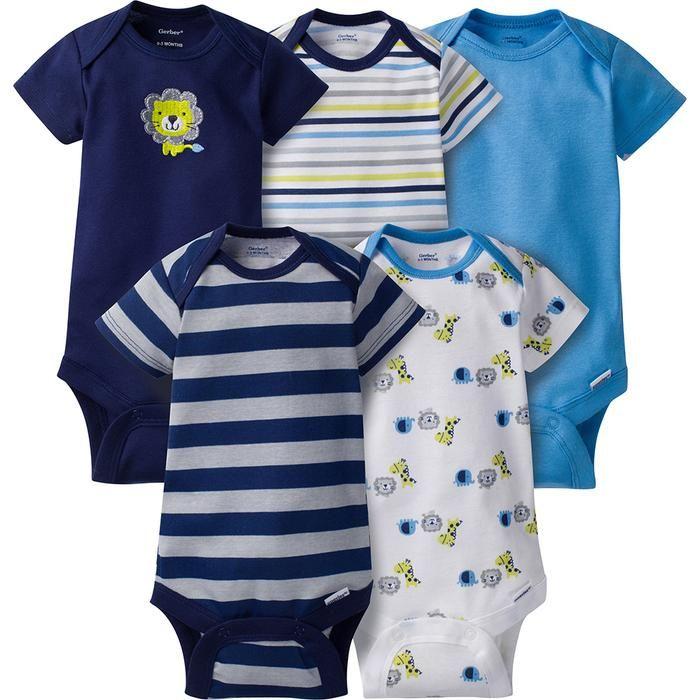 Onesies Brand Baby Boys 6-Pack Long-Sleeve Bodysuit
