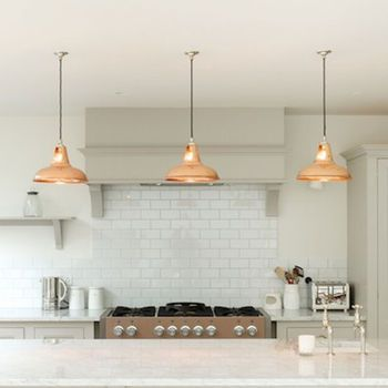 copper coolicon industrial pendant lamp by artifact lighting | notonthehighstreet.com