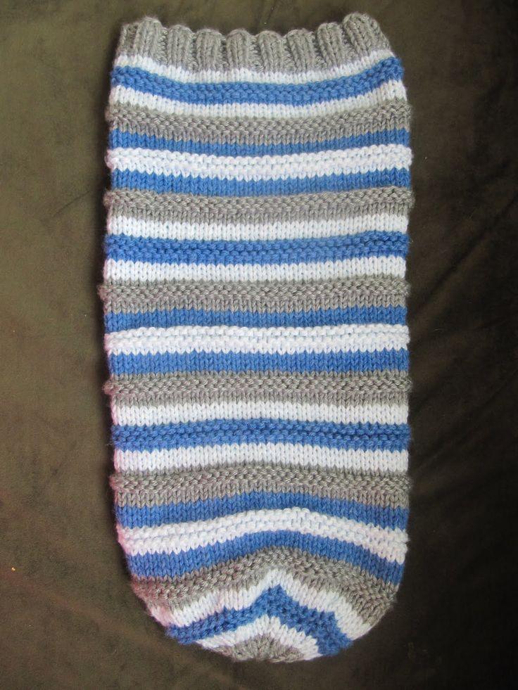Baby Sleeping Bag Knitting Pattern Free : Baby sleep sack free pattern knitted cocoon hat
