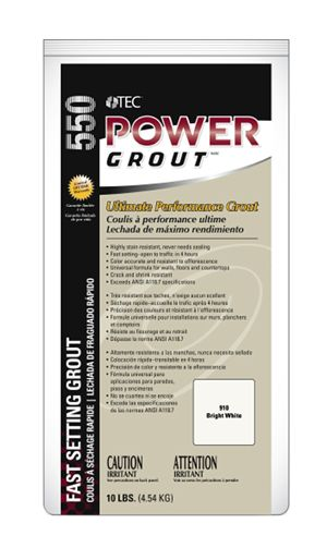 TEC Skill Set™ offers Power Grout with mold and mildew resistance as well as color uniformity. Purchase this stain resistant grout from your local Lowe's today.