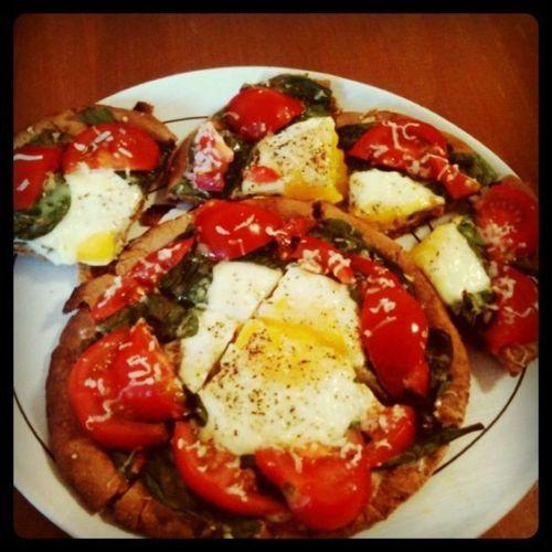 Pita pizzas, Pizza and Breakfast on Pinterest