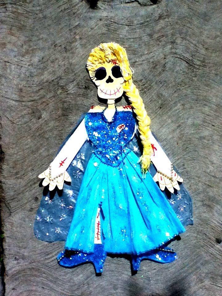 DIY Calavera de papel ELSA FROZEN Suscribete a mi canal en Youtube