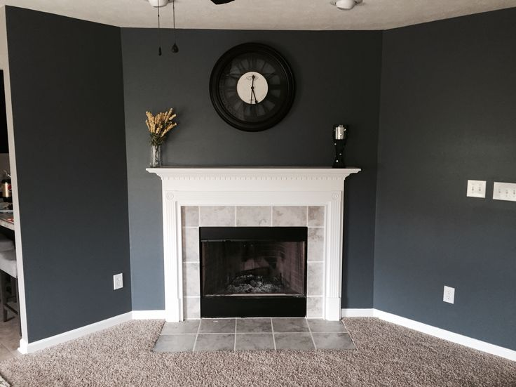 Sherwin Williams Grizzle Gray Sherwin Williams Wall Street Paint. Smoky Blue. Love This