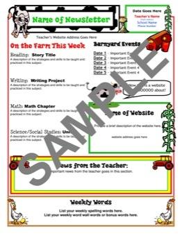 Farm themed newsletter templet from Teacher Club HouseClassroom Cutie, Newsletter Templets,  Internet Site,  Website, Schools, Newsletter Ideas, Theme Newsletter, Classroom Ideas, Newsletter Templates