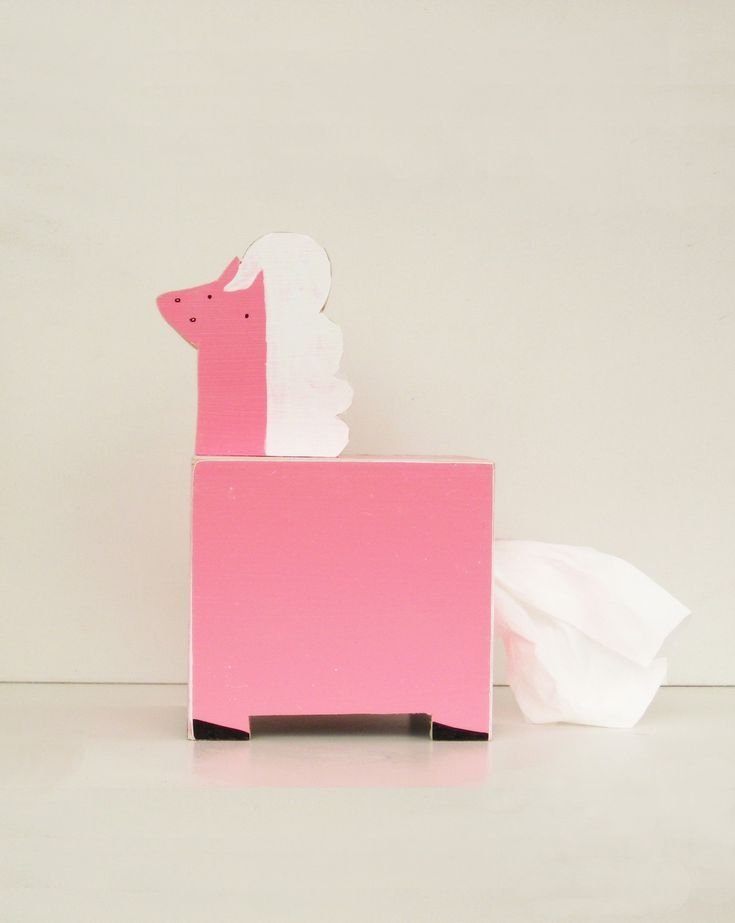 Pony Tissue Holder Handmade... so cute for a child's bedroom or playroom.