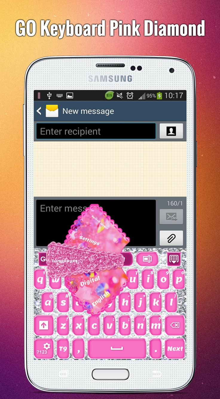 Themes in google play - Your Passion For Luxury And Fashionable Things Will Be Expressed Perfectly By This Pink Diamond Theme