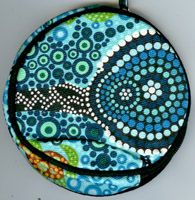 Aboriginal design Coin Purse Turtles - Blue by Colin Jones $9.00 or 2 for $16.00 Code:  COIN-CJT15