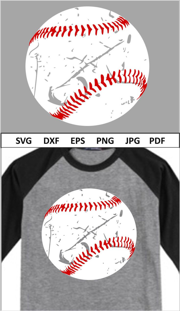 Baseball Svg File For Cricut Distressed Baseball Svg