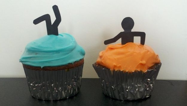 Portal Cupcakes :D for all you nerds out there heh