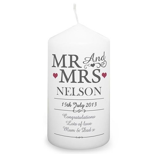 Personalised Mr and Mrs Candle  from Personalised Gifts Shop - ONLY £9.99