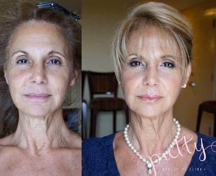 Image result for before after senior women makeovers makeup