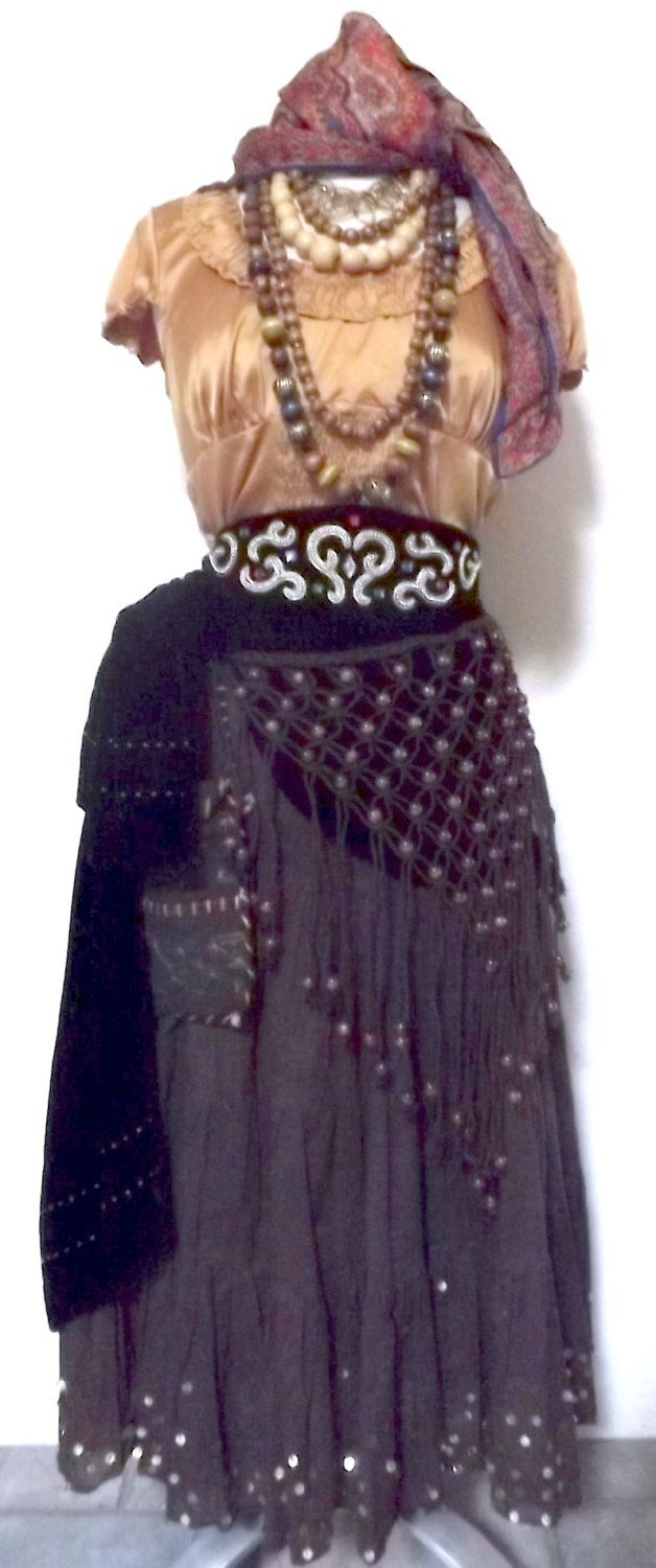 Medium Fortune Teller Halloween Costume - Adult Women's Pirate Costume by PassionFlowerVintage on Etsy