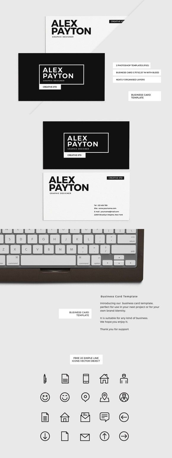 272 best business card templates images on pinterest business card minimal business card template reheart Images
