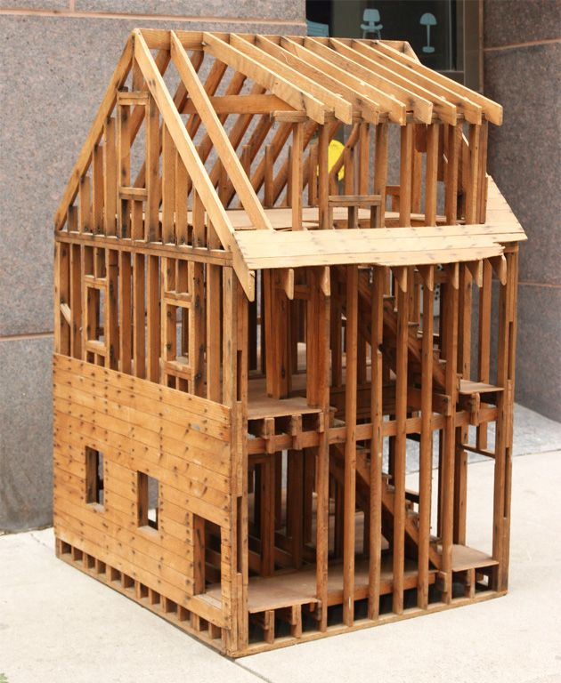 1stdibs | Great Balloon Framing Scale Model of a Home
