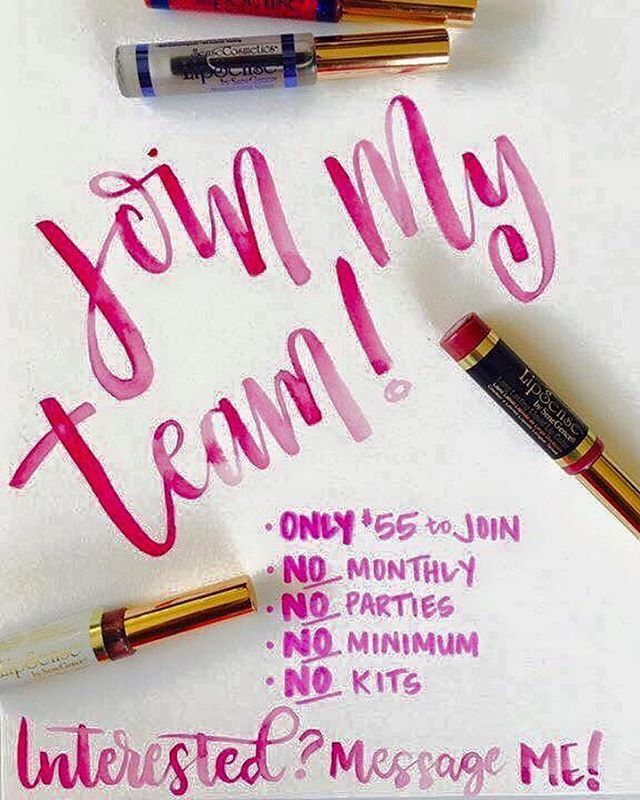 Love Lipsense? Why not join my team? This is an amazing experience I have had so far after signing up 4 weeks ago! I am apart of an amazing group of women who help each other grow in this business! You're never alone and they are always there to help answer any questions or concerns!! Message me if your interested! Don't miss out in this great opportunity to get in this business that is growing everyday!