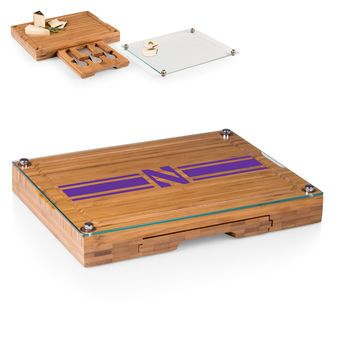 Northwestern Wildcats Concerto Cheese Board with Serving Stage and Tools