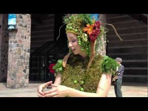 Nicole Dextras - Nomadik Harvest Dress.MOV  July 2012 unveililng at the McMichael Canadian Art Collection.