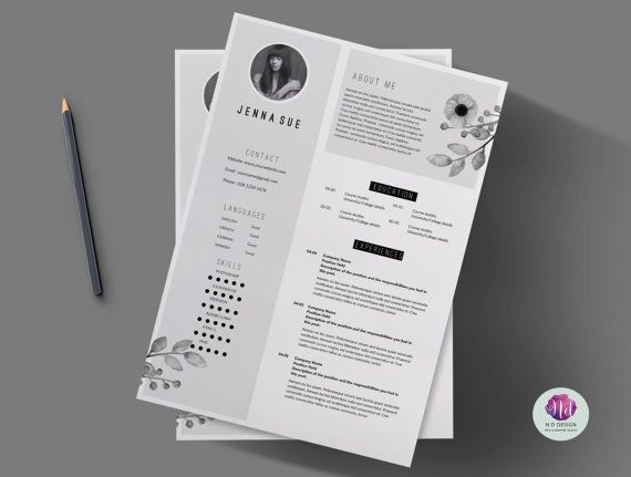 Best Floral Cv  Resume Templates Images On   Cv