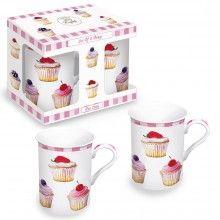 Cupcakes muffin mintás bögre fém dobozban