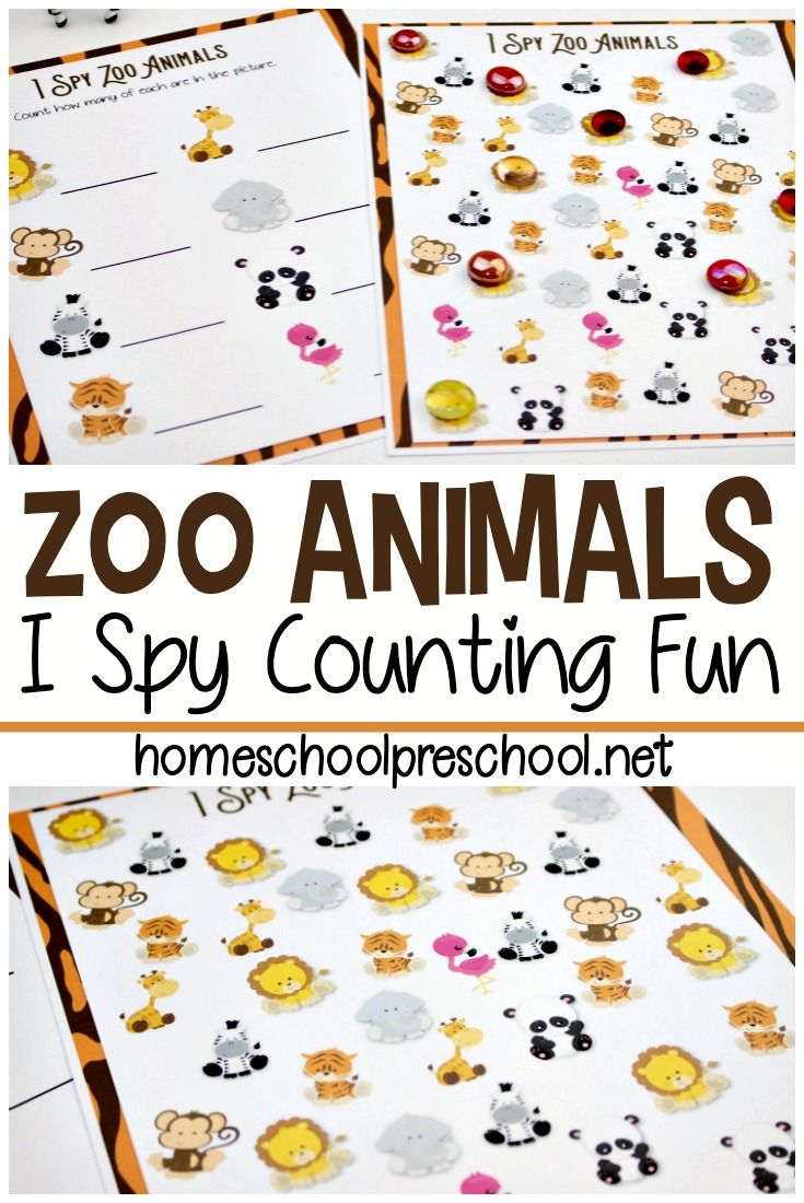 I Spy Zoo Animals Counting Game For Kids Zoo Animals Preschool Zoo Activities Preschool Animal Activities For Kids [ 1100 x 735 Pixel ]