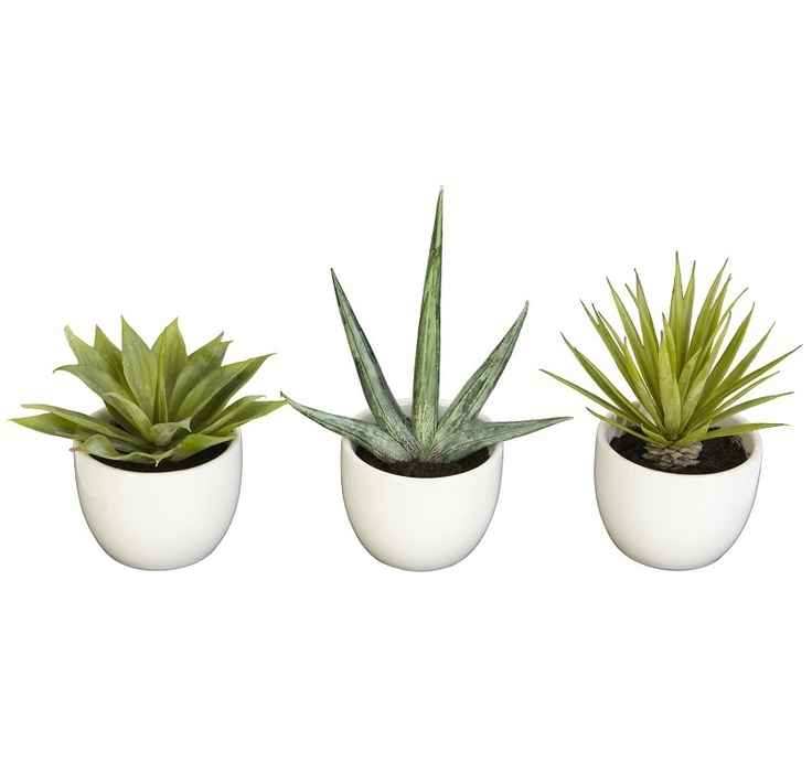 This set of 3 Southwestern artificial plant collection will add wonderful decor to your decor and is presented by ExcellentSilkFlowers.com.