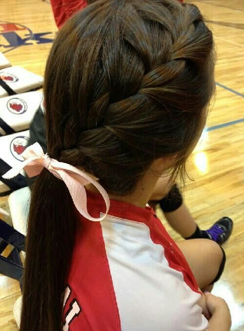 Hairstyle for volleyball